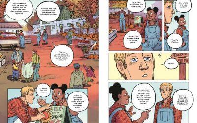 Pumpkinheads by Rainbow Rowell; illustrated by Faith Erin Hicks