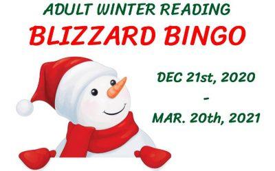 "Adult Winter Reading ""BLIZZARD BINGO"""