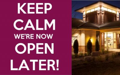 New Extended Hours! Now Open Until 8:30 pm Monday- Thursday
